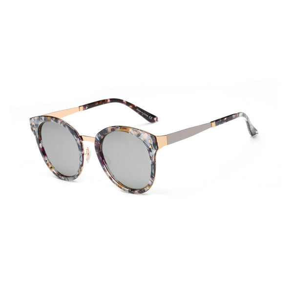 Hipster Polarized Lens Horned Rim Sunglasses Unisex|大理石纹时尚偏光太阳镜 男女通用