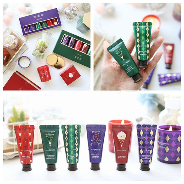 Innisfree Perfumed Hand Cream Miniature Set 2017 Christmas Limited Edition 20ml x 6 | Innisfree 悦诗风吟 香氛护手霜迷你套装 2017圣诞限量 20ml x 6