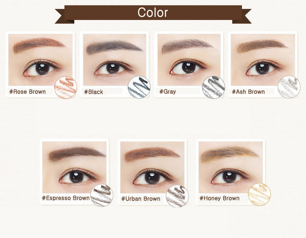 Innisfree Auto Eyebrow Pencil 0.3g - Rose Brown by the Setting Sun|INNISFREE  悦诗风吟 自动旋转双头眉笔 #1 红棕色