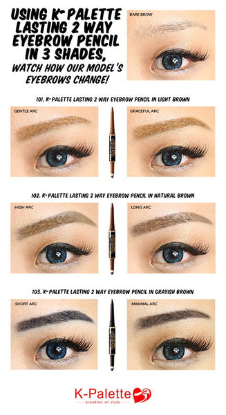 K-Palette - 1 Day Tattoo Real Lasting Eyeliner 24h Waterproof 2 Way Eyebrow Pencil|K-Palette  1 DAY TATTOO 24小时超防水双头眉笔+眉粉两用
