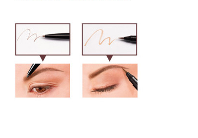 BCL BROWLASH EX 2way Eyebrow Pencil Nature Brown|BCL BROWLASH EX24小时防水两用双头眉笔 自然咖啡色