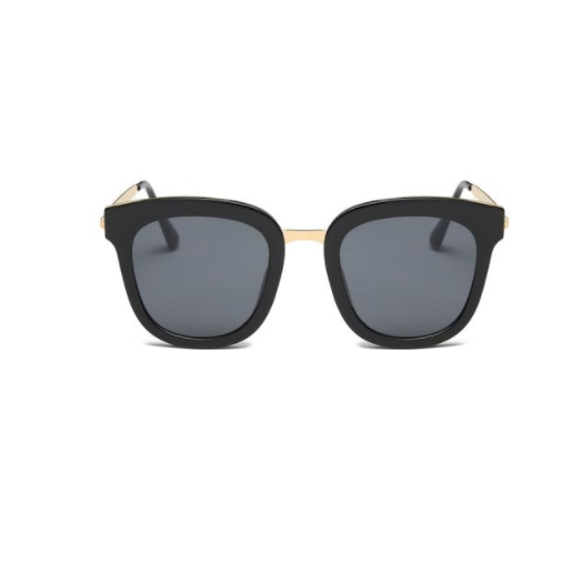 Square Horn Rimmed Boxy Mirrored Lens Sunglasses | 时尚四角方框太阳镜