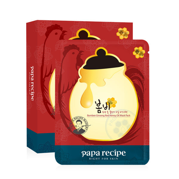 Papa Recipe Bombee Ginseng Red Honey Oil Mask 1 pc |Papa Recipe 春雨红参蜂蜜精油面膜 单片