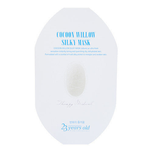 23 Years Old Cocoon Willow Silky Mask 1 Sheet | 23 Years Old 23岁高弹力保湿补水美白蚕丝面膜 单片