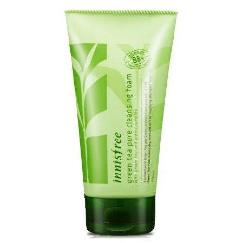 innisfree - green tea pure cleansing foam-500x500