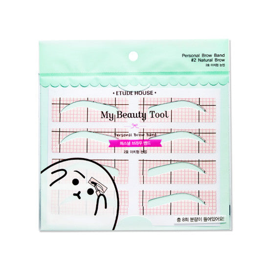 Etude House My Beauty Tool Personal Brow Band (4 set) #2 Natural Brow|Etude House爱丽小屋 新款眉贴 画眉工具/辅助器(4对入) #2 拱眉