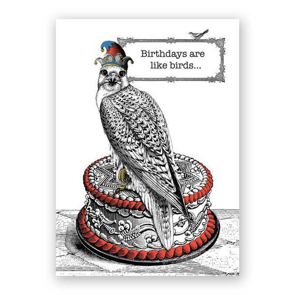 Birthdays are like Birds card