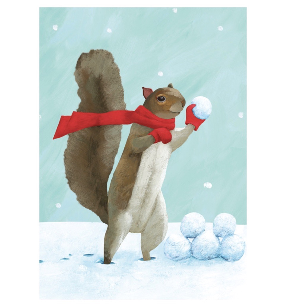 Holiday Card: Snowball fight