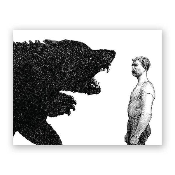 Man vs. Bear Card