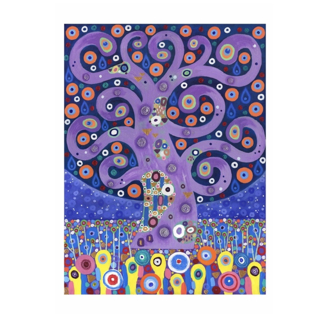 Small Boxed Cards: Peacock Tree