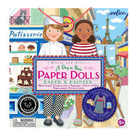 Baker and Painter Paper Dolls