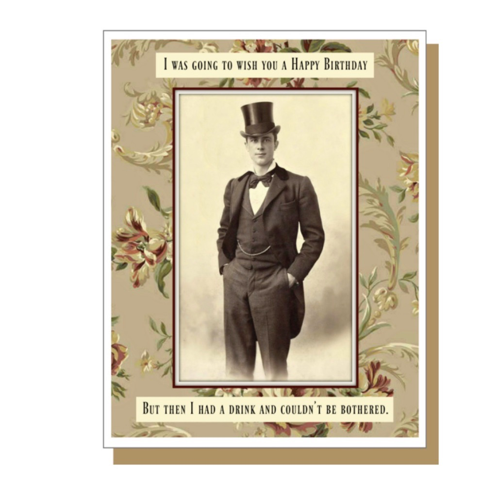Birthday Card: Bothered Male