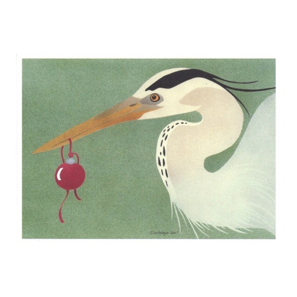 Holiday Greeting Card: Great Blue Heron