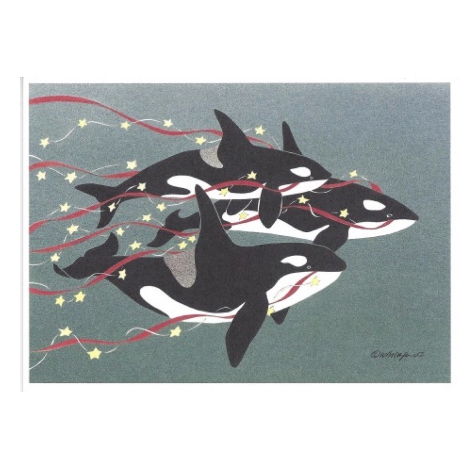 Holiday Greeting Card: We Three Orcas