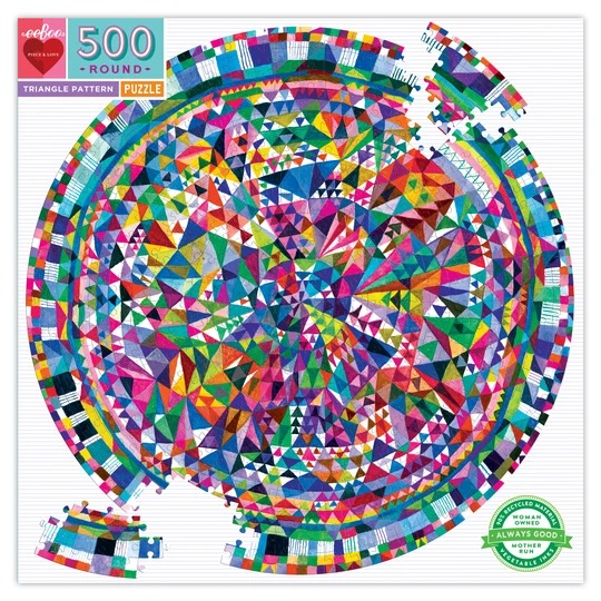 Triangle Pattern: 500pc round puzzle