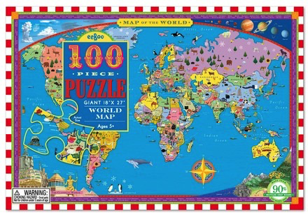 World Map 100 pc Puzzle