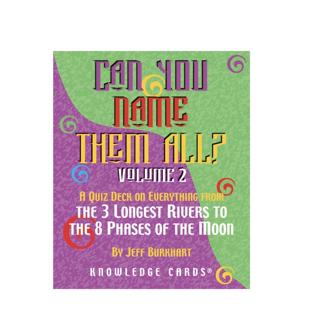 Can You Name Them All Knowledge Cards, Vol 2
