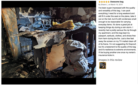 Amazon review of the Tahquitz pack