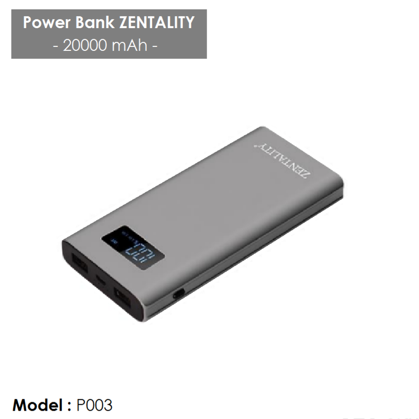 Power bank ZENTALITY P003 - 20000 mAh