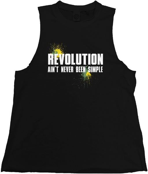 'Revolution' Men's Raw Edge High Neck Tank