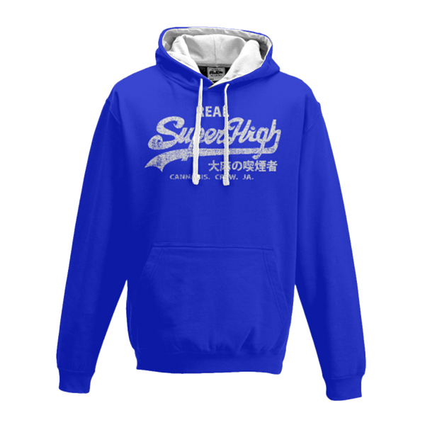 'Superhigh' Marijuana Varsity Hoodie - Couture 420 - Marijuana Themed Clothing - Hoodies