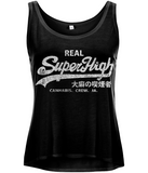 'Superhigh' Women's Curved Hem Cannabis Tank - Couture 420 - Marijuana Themed Clothing - Womens Tanks