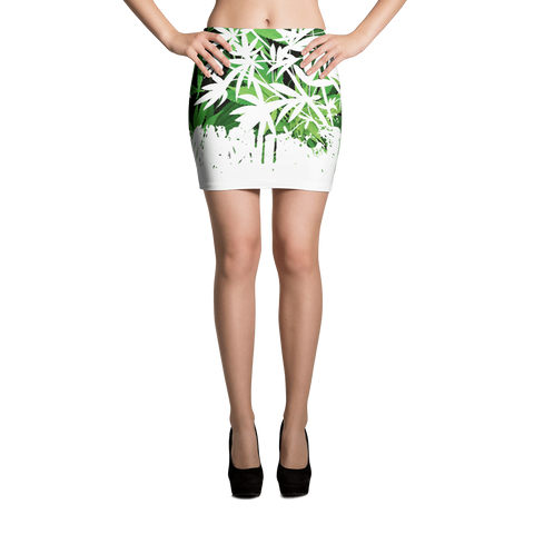 '420 Days' Exclusive Marijuana Themed Bodycon Mini Skirt