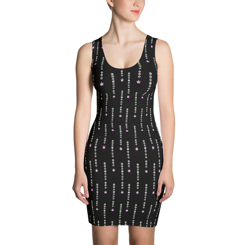 'Stripe' All Over Print Marijuana Bodycon Dress - Couture 420 - Marijuana Themed Clothing - Dresses