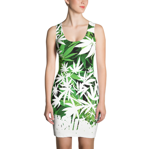 '420 Days' Exclusive Marijuana Themed Bodycon Vest Dress
