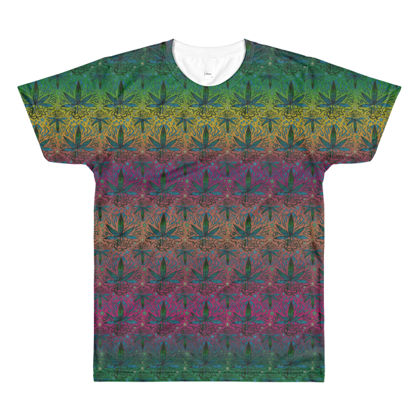 'Ganja Sunset' Mens Marijuana Tee - Couture 420 - Marijuana Themed Clothing - Mens T Shirts