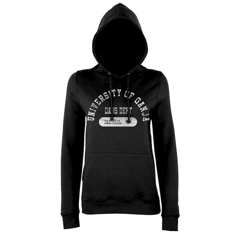 'Dabbers Diploma' Women´s Exclusive Girlie Cannabis College Hoodie Black