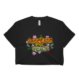 Womens 'Increase the Peace' Cropped Hippie Tee - Couture 420 - Marijuana Themed Clothing - Crop T Shirts