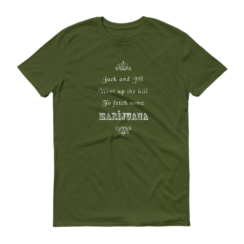 Mens 'Jack & Jill' Marijuana Tee - Couture 420 - Marijuana Themed Clothing - Mens T Shirts