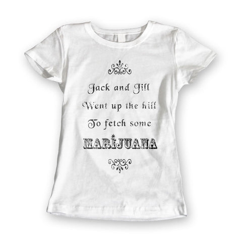 Womens 'Jack & Jill' Marijuana Tee - Couture 420 - Marijuana Themed Clothing - Womens T Shirts