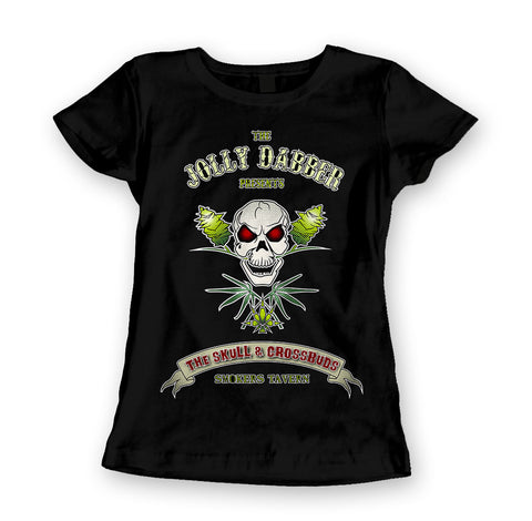 Womens 'Jolly Dabber' Marijuana Tee - Couture 420 - Marijuana Themed Clothing - Womens T Shirts