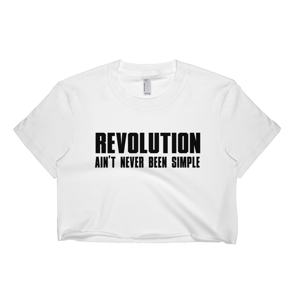 Womens 'Revolution' Cropped Hip Hop Lyrics Tee - Couture 420 - Marijuana Themed Clothing - Crop T Shirts