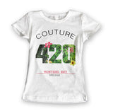 Womens '420 Super League' Marijuana Tee - Couture 420 - Marijuana Themed Clothing - Womens T Shirts