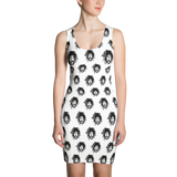 'Dread-Full' All Over Print Bodycon Dress - Couture 420 - Marijuana Themed Clothing - Dresses