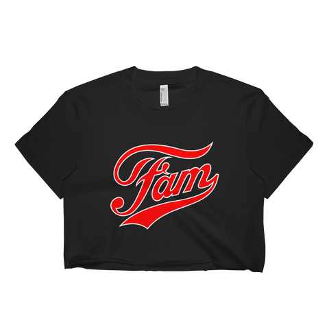 Womens 'Fam' Slogan Cropped Parody Tee - Couture 420 - Marijuana Themed Clothing - Crop T Shirts