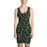 'Dr Bird' All Over Print Marijuana Bodycon Dress - Couture 420 - Marijuana Themed Clothing - Dresses