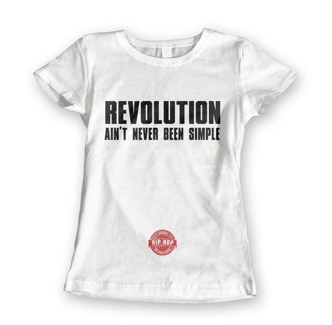 Womens 'Revolution' Lyric Tee - Couture 420 - Marijuana Themed Clothing - Womens T Shirts