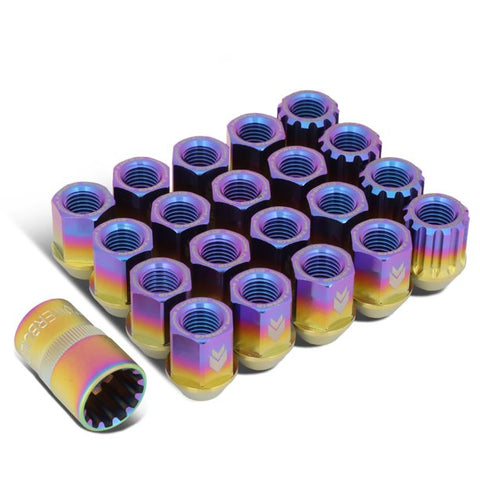 NRG Innovations 200 Series M12 x 1.5 Titanium Lug Nut Set (Neochrome) [LN-T200MC-21]
