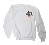 Long Nights Drift Crewneck Sweatshirt - Syndicate Auto Salon