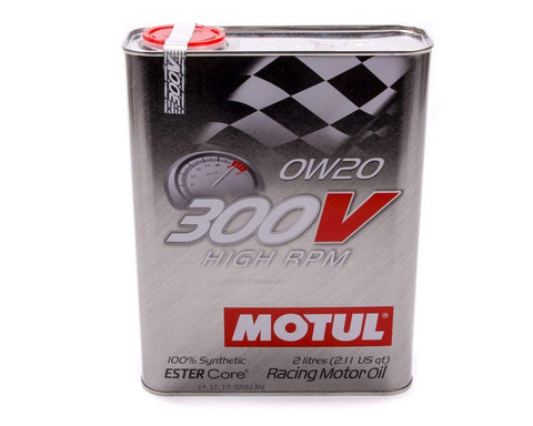 Motul Synthetic-Ester Racing Oil 300V HIGH RPM 0W20: 2 Liters - Syndicate Auto Salon