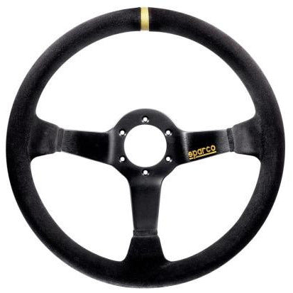 Sparco 325 Competition Steering Wheel - Black Suede, 350mm - Syndicate Auto Salon