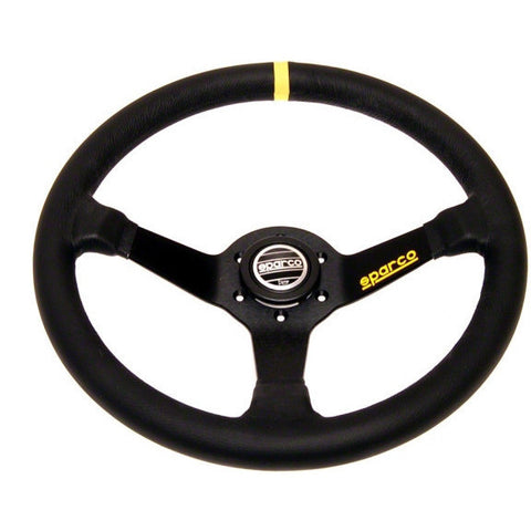 Sparco 345 Competition Black Leather Steering Wheel 350mm - Syndicate Auto Salon