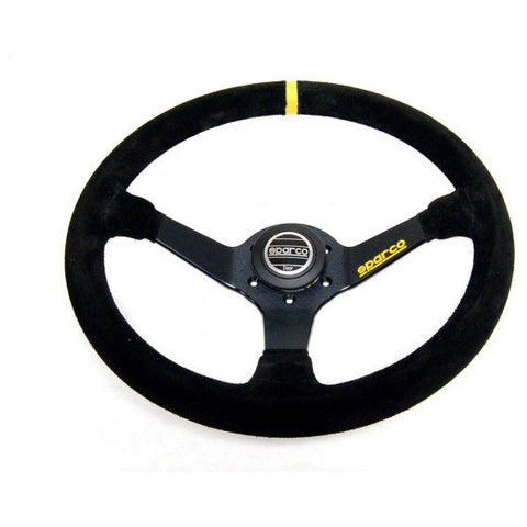 Sparco 345 Competition Black Suede Steering Wheel 350mm - Syndicate Auto Salon