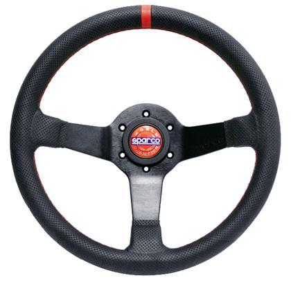 Sparco 015TCHMP Champion Black Leather Steering Wheel 330mm