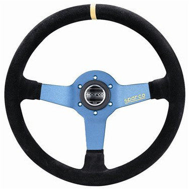 Sparco Monza Steering Wheel Black/Blue 350mm Suede - Syndicate Auto Salon