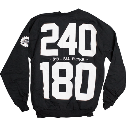 240 / 180 Drift King Crewneck - Syndicate Auto Salon